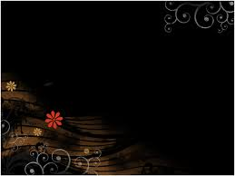 animated black flowers free ppt backgrounds for your powerpoint
