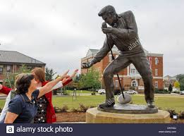 Elvis Presley Home by Statue Of Elvis Presley At His Homecoming Concert In 1956 In