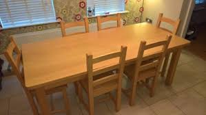 Beech Dining Table Fineline Solid Beech Kitchen Table Six Chairs For Sale In Kilkenny