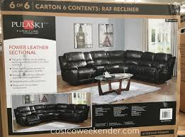 pulaski sofa costco pulaski furniture leather reclining power sectional costco weekender