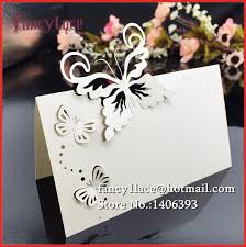 Place Cards Wedding Aliexpress Com Buy Wedding Card 50x Delicate Butterfly Guest