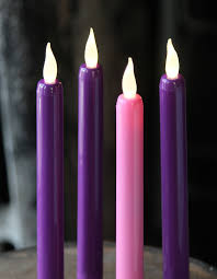 advent candles flameless advent taper candle set 3 purple 1 pink 9 inch buy now