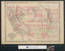 Arizona California Map by Johnson U0027s California With Territories Of Utah Nevada Colorado