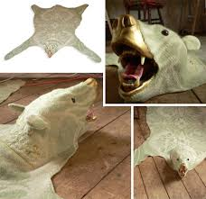 funny faux bear skin rug idea for real live animal lovers