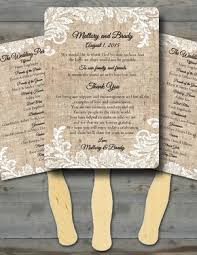 burlap wedding programs custom wedding invitations wedding fans baby shower birthday