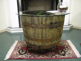 half wine barrel coffee table militariart com
