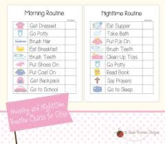 printable evening schedule free kids routine charts routine continue reading and planners