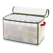 Box Ornament Real Simple 112 Count Ornament Storage Box Bed Bath