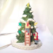 porcelain christmas tree with lights 44 best christmas village images on pinterest christmas villages
