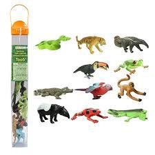 amazon com safari ltd rainforest toob toys u0026 games