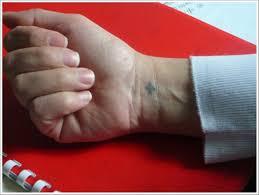 stylish cross tattoos for wrists