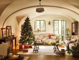 christmas livingroom interior modern living room decorating ideas dark brown color