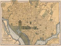 Map Dc Large Detailed Old Map Of Washington D C 1897 Washington D C