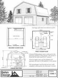 colonial gambrel garage plans with loft 1524 1 by behm design