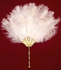ostrich feather fans an made fan using 9 black or white ostrich feathers