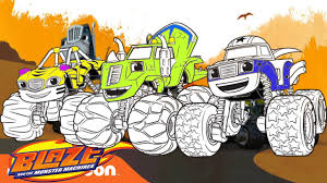 blaze and the monster machines coloring pages for kids abc