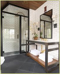 Tile In Kitchen White Tile Dark Grout Wall Tile In Kitchens With Gold Hardware