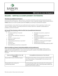 Achievement Examples For Resume by Resume Achievement Resume