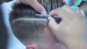 comb over skin fade haircut with part fade with combover ez