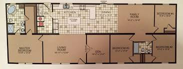 Double Wide Floor Plans With Photos Double Wide Floor Plan 5 Bedrooms In 1600 Square Feet U2014 Brooklyn