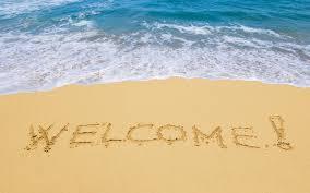 ocean welcome blue ocean sand sea beach hd free for hd 16 9 high