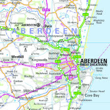 Road Map Of Scotland Northern Scotland Orkney And Shetland Regional Road Map Wall