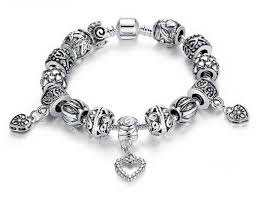 pandora style silver charm bracelet images Silver bracelet heart charm pandora style jpg