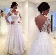 ivory wedding dress backless sleeve lace white ivory wedding dress bridal size 6