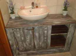 What Are Bathroom Sinks Made Of Pallet Wood Bathroom Projects Pallet Bathroom Bathroom Cabinets
