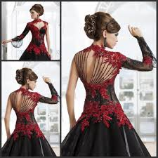 black red cocktail dresses with sleeves dress images