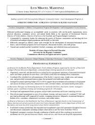 Planning Manager Resume Sample by Athletic Director And Facility Manager Resume