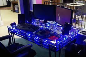 Computer Built Into Desk Creative Pc Built Directly Into Desk Has Lots Of Fans Techeblog