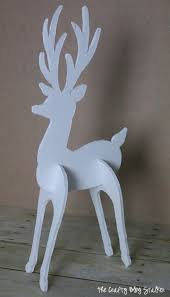 how to make a 3d reindeer decoration