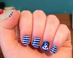 blue nail art 15 cute easy nail art designs in minutes nail art