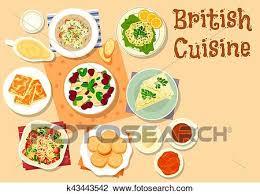 cuisine irlandaise traditionnelle clipart britannique cuisine petit déjeuner traditionnel plats