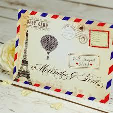 postcard wedding invitations vintage postcard wedding invitation bluebird wedding stationery