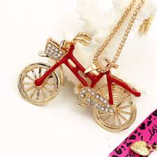 ebay necklace images Betsey johnson crystal enamel 3d bicycle bike pendant sweater jpg