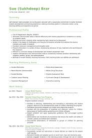 Example Resumes For Teachers by Relief Teacher Resume Samples Visualcv Resume Samples Database
