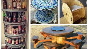 Furniture Recycling by Recycled Cable Spool Ideas Diy Furniture Ideas From Wooden Wire