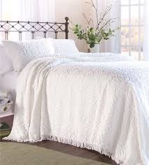 Summer Coverlet King Plow U0026 Hearth Wedding Ring Tufted Chenille King Bedspread