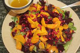 fruit salads for thanksgiving give thanks for roasted acorn squash and beet salad