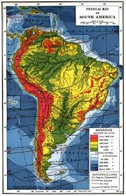 topographic map south america topographic map