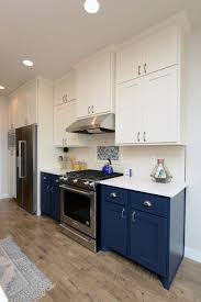blue base kitchen cabinets design trend navy cabinetry thomsen homes
