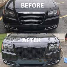 bentley chrome chrysler 300 black chrome mesh bentley grille grill bently 2011