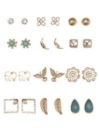 earrings studs mixed boho stud earrings 12 pack russe the