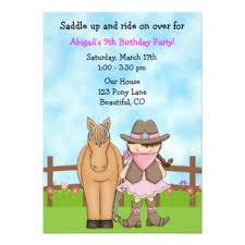 cowgirl invitations u0026 announcements zazzle com au