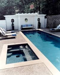 exposed aggregate concrete pool deck pool contemporary with dallas