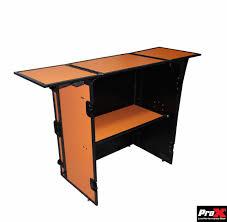 Dj Desk Fold Away Dj Performance Desk Orange On Black Dj Equipment
