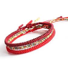 bracelet string images Tibetan buddhist handmade charmed knots string bracelets 4 jpg