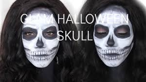 halloween creepy makeup creepy and cute halloween skull makeup for dark skin youtube